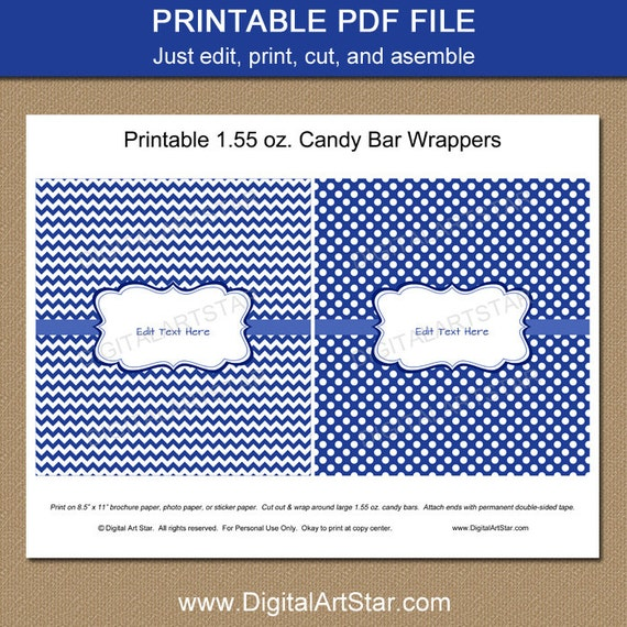 chocolate bar wrapper templates
