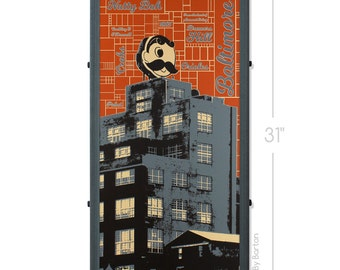 Boh Town Baltimore Framed Silkscreen Print