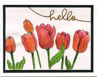 61414 Red Tulips Hello