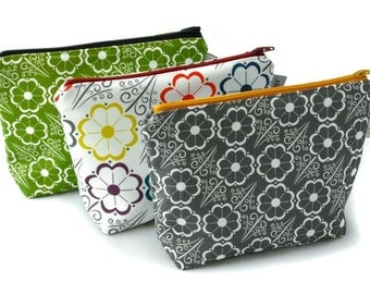 Zipper Pouch - Sunflower Print