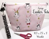 Easter Project Bag with Wristlet
