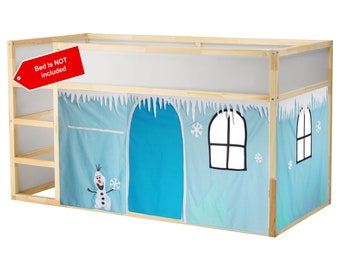 Frozen Inspired Playhouse // Bed playhouse // Winter playhouse