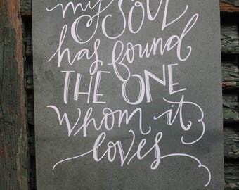 my soul has found the one whom it loves