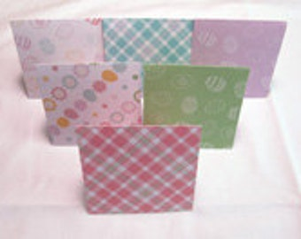 """Colorful Handmade 3"""" x 3"""" Easter Note Cards Thank You Cards Set of 6 with Envelopes"""