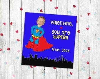 Valentines day, valentines card, valentines card kid, valentines day card, valentines printable, school valentines, superman valentines