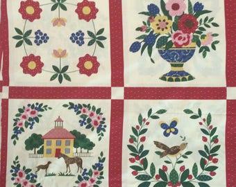 Cheater Quilt Fabric / Cotton Fabric / Cheater Cloth Fabric / Block Cheater Fabric /