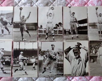 Lot of 28 Vintage Baseball Postcards Unused Ty Cobb Babe Ruth