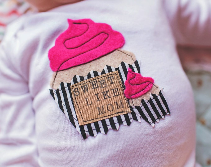 "Swanky Shank ""Sweet Like Mom"" Girl's Mother's Day Bodysuit or Tee"