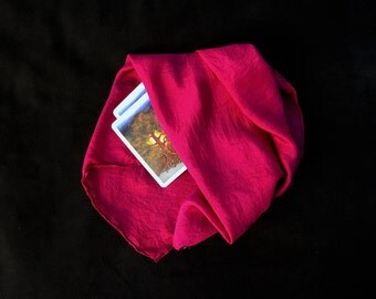 "Deep Magenta {Limited} Tarot Cloth - Altar Cloth - Hand Dyed 20""x20""...100% Silk"