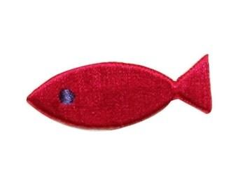 ID 0217A Tropical Fish Emblem Patch Goldfish Symbol Emblem Iron On Applique