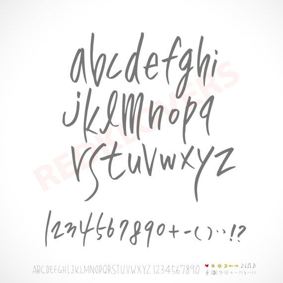 SVG Silhouette DXF Cricket Font Script Calligraphy Hand