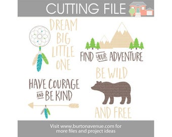 Dream Big Assorted cut files for Cricut, Silhouette, Instant Download (eps, svg, gsd, dxf, ai, jpg, and png)