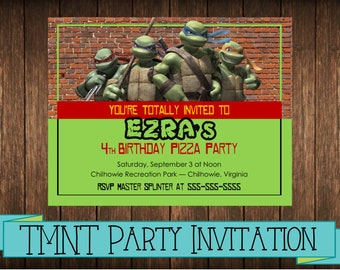 Custom TMNT Invitation (Printable)