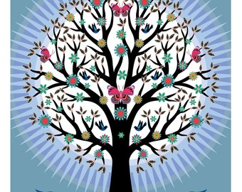 Butterfly Tree Print
