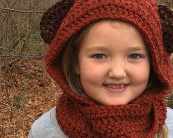 Star Wars Ewok Scoodie (Scarf+Hoodie) Toddler/Child size (ready to ship)