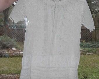 No. 500 EXQUISITE No. 2 Antique Irish Lace Little Girl Dress  (Edwardian)