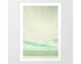 Beach art, mint beach prints, beach wall art, beach photography, large art, coastal art,  ocean art, coastal wall art, coastal wall decor