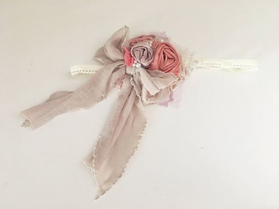 Pink Coral Flower Headband- Made to match Well Dressed Wolf Fairy