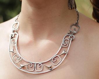 Birds and Spirals Necklace