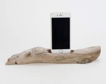 Docking Station for iPhone, iPhone dock, iPhone Charger, iPhone Charging Station, iPhone driftwood dock, wood iPhone dock/ Driftwood-No. 983