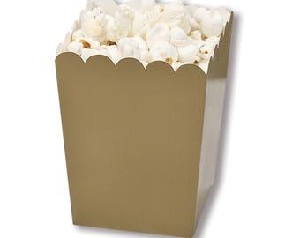 Gold Party Favor Boxes, Mini Party Favor Boxes, Mini Popcorn Favor Boxes, Gold Party Boxes, Graduation Party Favor Box