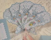 Handmade Paper Fancy Keepsake Fan Gift Set Great for Valentine, Mother's Day, Birthday