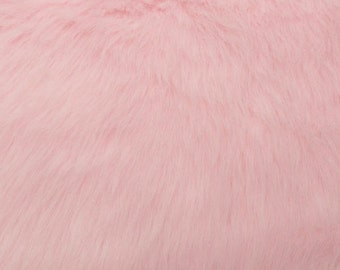 Fun Monkey Fur Baby Pink 60 Inches Fabric by the Yard, 1 yard