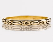 RESERVED - Antique Wedding Band - Antique 14k Yellow Gold Etched Eternity Band