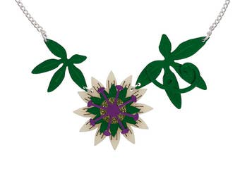 Passion Flower necklace