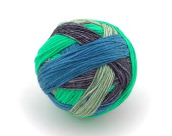 Atomic - Hand Dyed Self-Striping Sock Yarn - SW 75/25 - Superwash Merino Nylon - 400 yards - Dauphine