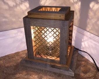 Radiator Grate Lamp, Table Lamp, Rustic Lamp