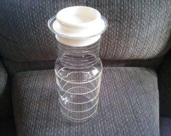 Vintage Glass Pyrex Juice Pitcher - Pyrex 8014 Carafe - Pyrex Carafe - Pyrex Decanter - Juice Decanter ###ON SALE###