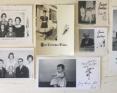 Vintage Christmas Card Collection Kitsch Retro Mid Century Photo Greeting