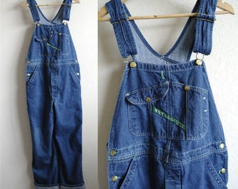 Vintage Key Imperial Overalls, Mens Overalls, Womens Overalls, Bib Overalls, Classic Blue Wash, Denim Overalls, Coveralls, Carpenter, 36