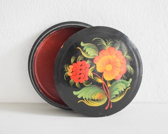 Hand-painted jewelry box, ring dish, business card dish, Russian decor, painted box