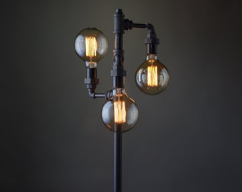 Edison Bulb Floor Lamp   Industrial Furniture   Standing Light   Filament  Bulb   Bare Bulb