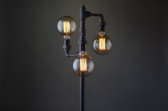 edison bulb floor lamp industrial furniture standing light. Black Bedroom Furniture Sets. Home Design Ideas