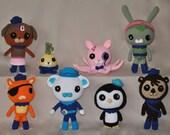 Octonauts, Crochet Plushies, MADE TO ORDER, Tweak, Dashi, Child Stuffed Animal, Handmade, Captain Barnacles, Tunip, Child Gift