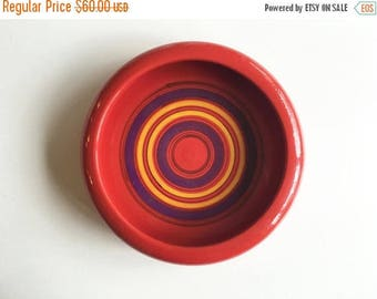 "ON SALE Mid Century ""Bullseye"" Bitossi Ceramic Vessel"