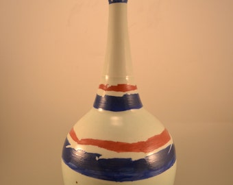 Sky and riverdance - porcelain vase, decorative vase, southwest vase