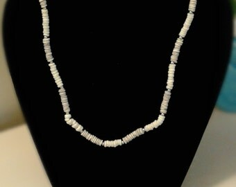 White & Grey Conch Shell Necklace