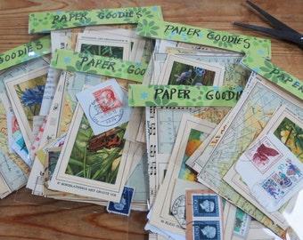 Mini collage kit, paper goodies, mini art kit, craft supplies, scrapbooking, journaling