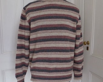 Vintage Striped Pullover Knit Sweater Jumper