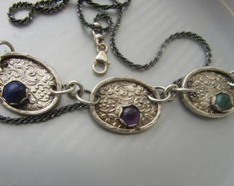 Filigree Pendant with GEMSTONES