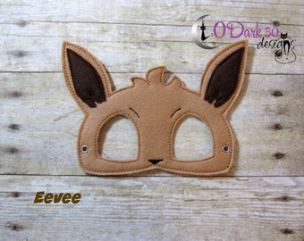 Eevee Pokemon Inspired Childrens Dress Up Mask