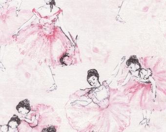 Fat Quarter Ballet Dancers 100% Cotton Quilting Fabric Timeless Treasures