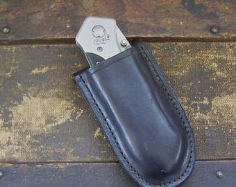 Boker Tactical/Rescue Knife with Handmade Leather Sheath