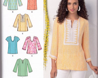 Sewing Pattern, Simplicity 1461, Tops with Neckline, Trim and Sleeve Variations, Separate Patterns for B, C, D Cup Sizes, Misses Sizes 10-18