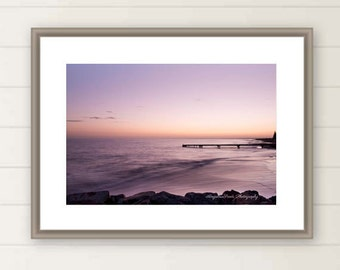 Pink sunrise photo Ocean sunrise print nautical images Beach sunrise photo Pier picture western Australia image Zen collection gift for home