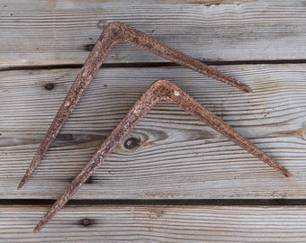 Pair of Vintage Metal Shelf Brackets